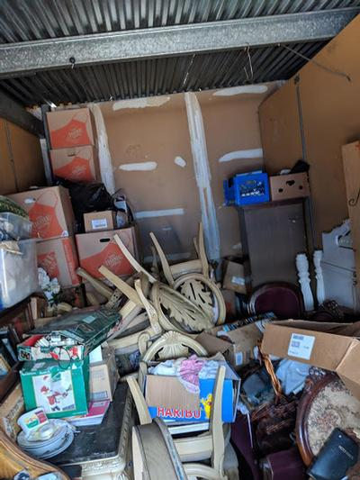 La Habra  Self Storage Auction #104973 - Image 6 boxes / totes,electronics,furniture,holiday decor