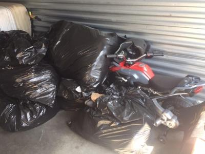 Antioch  Self Storage Auction #109483 - Image 2 boxes / totes,clothing,furniture,motorcycle