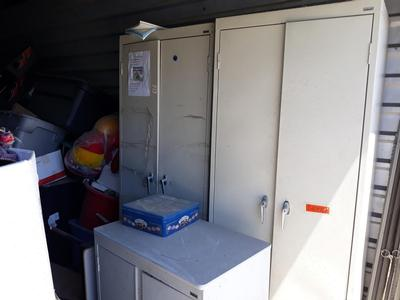 Houston  Self Storage Auction #90598 - Image 3 appliances,boxes,cabinet,furniture,office equipment,toys, baby items, games