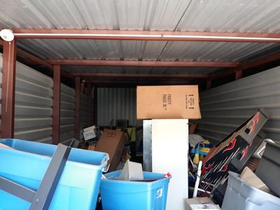 Houston  Self Storage Auction #90598 - Image 2 appliances,boxes,cabinet,furniture,office equipment,toys, baby items, games