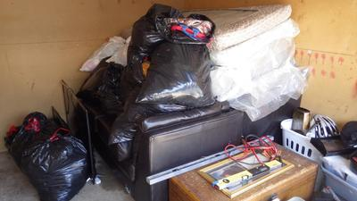 Wyoming  Self Storage Auction #91075 - Image 4 automobile,bedding,boxes,clothing,electronics,furniture,mattress,tools