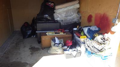 Wyoming  Self Storage Auction #91075 - Image 1 automobile,bedding,boxes,clothing,electronics,furniture,mattress,tools