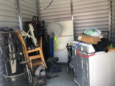 Bakersfield  Self Storage Auction #92014 - Image 2 antiques,bedding,furniture,mattress,musical instruments,tools,toys, baby items, games
