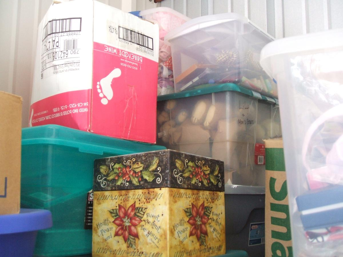 Self Storage Auction #104328 - Image 7 books,boxes / totes,clothing,holiday decor,toys / baby items