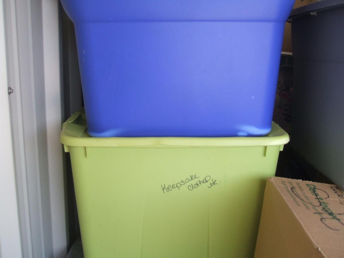 Self Storage Auction #104328 - Image 6 books,boxes / totes,clothing,holiday decor,toys / baby items