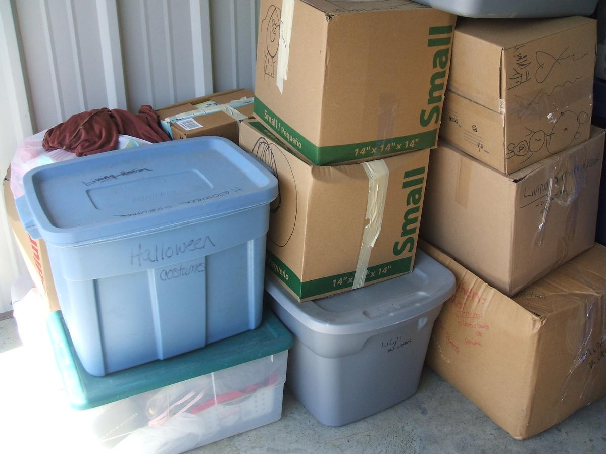Self Storage Auction #104328 - Image 4 books,boxes / totes,clothing,holiday decor,toys / baby items