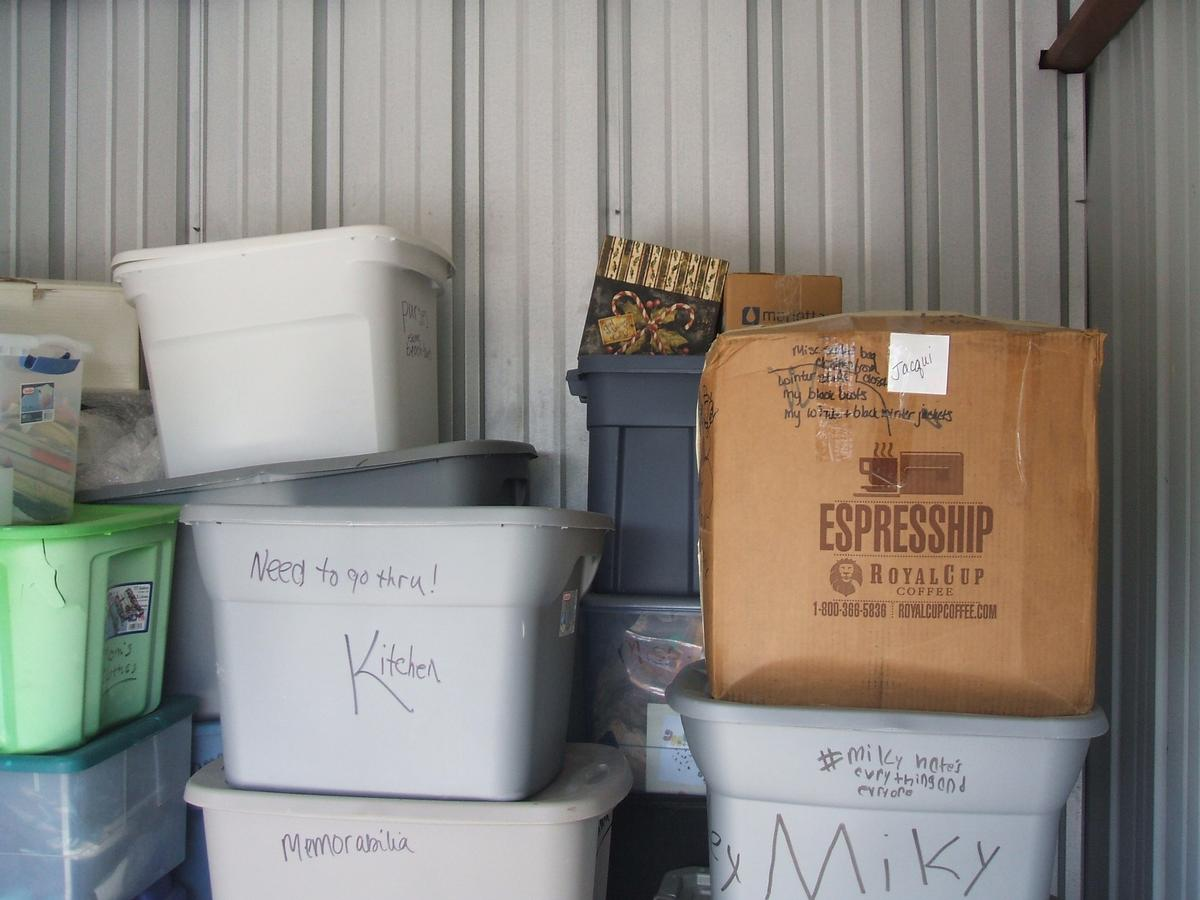 Self Storage Auction #104328 - Image 3 books,boxes / totes,clothing,holiday decor,toys / baby items