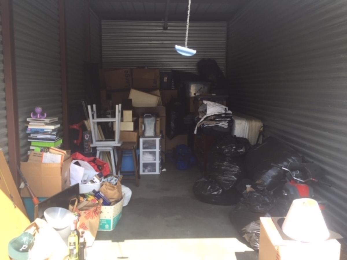 Antioch  Self Storage Auction #109483 - Image boxes / totes,clothing,furniture,motorcycle