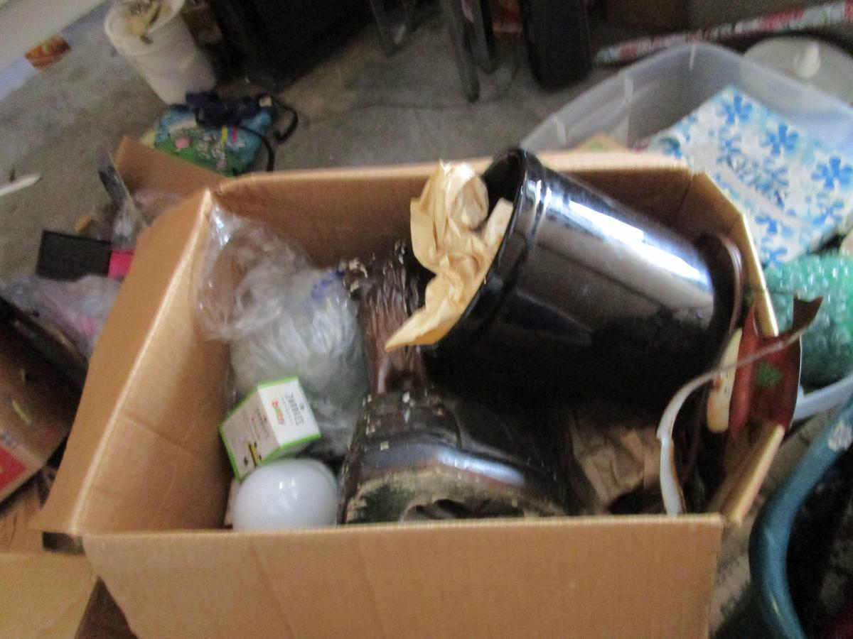 Self Storage Auction #158241 - Image 22 antiques,boxes / totes,cabinet,electronics,furniture,games,holiday decor,home goods,jewelry,kitchenware,lamps,movies / music,office equipment,outdoor goods,shelves,sports equipment,tools,toys / baby items,wall art