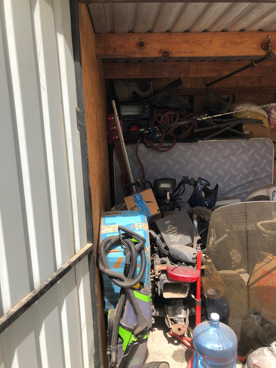 Self Storage Auction #84844 - Image 3 boxes,Holiday Decor,motorcycle,sports & outdoors