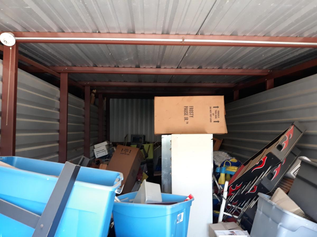 Self Storage Auction #90598 - Image 2 appliances,boxes,cabinet,furniture,office equipment,toys, baby items, games