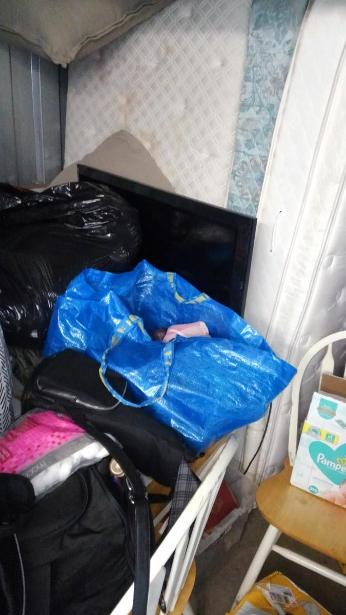 Self Storage Auction #93114 - Image 2 boxes,clothing,collectibles,furniture,lamps